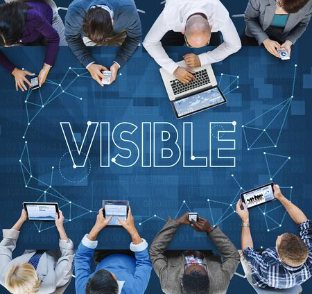 Vision Visibility Observable Noticeably Graphic Concept Stock fotó
