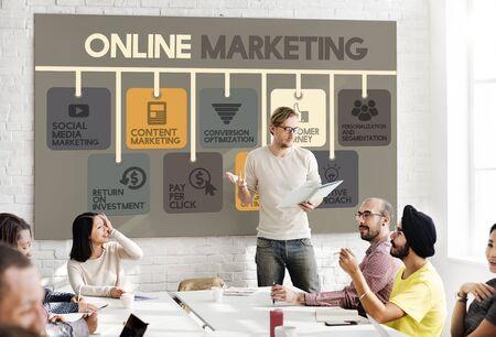 オンライン マーケティング広告の社会的なメディアの概念