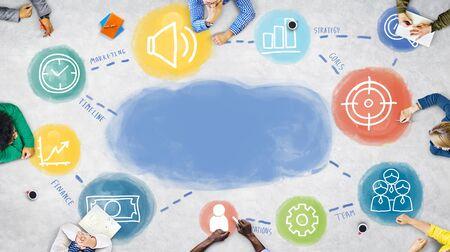 business team: Business Team Meeting Planning Concept