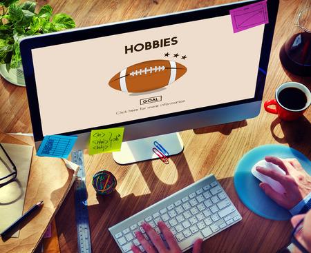 freetime activity: Hobbies Hobby Interest Leisure Pleasure Passion Concept