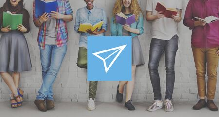 paper airplane: Paper Airplane Rocket Launce Growth Success Startup Concept