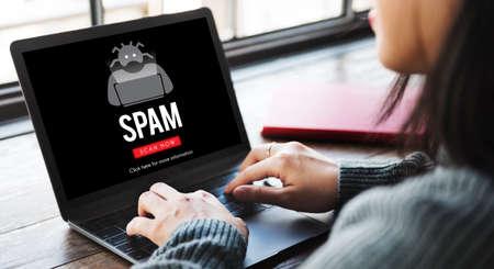 scam: Scam Virus Spyware Malware Antivirus Concept Stock Photo