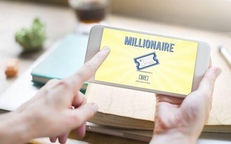 hombre millonario: Millionaire Luxury Achievement Business Prize Concept