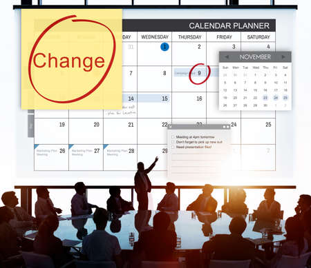 team planning: Change Appointment Event Schedule Concept