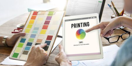 color mixing: RGB Printing Palette Mixing Colour Concept Stock Photo