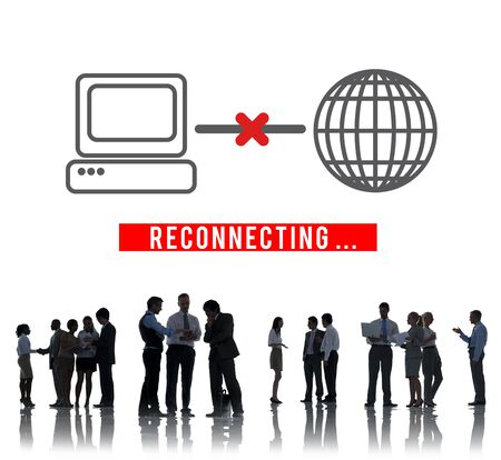 disconnected: Reconnecting Access Disconnected Internet Concept Stock Photo