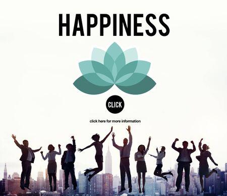 positivity: Happiness Enjoyment Recreation Relaxation Positivity Concept