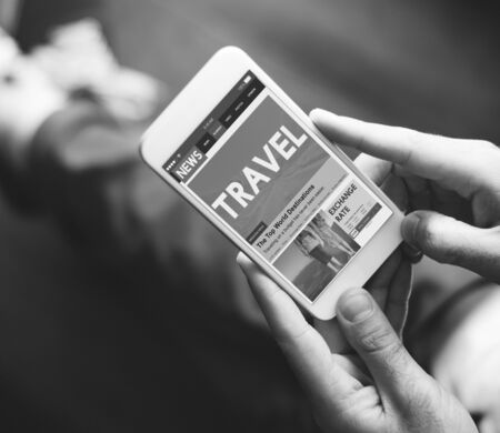 article: Newsletter Travel Article Website Online Concept Stock Photo