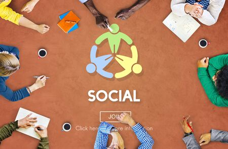 socialize: Social Socialize Society Unity Community Global Concept