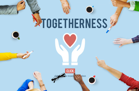 togetherness: Togetherness Unity Design Icon Heart Concept