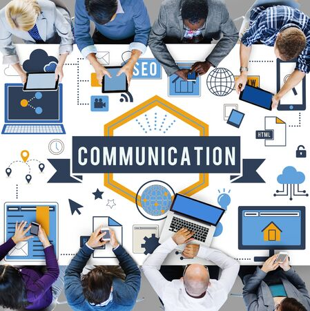 networking concept: Connection Communication Digital Networking Concept
