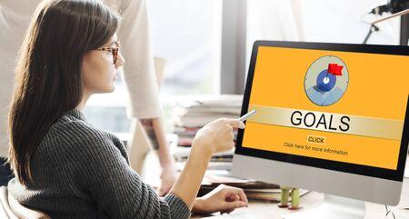 aim: Goals Success Aim Aspiration Concept Stock Photo