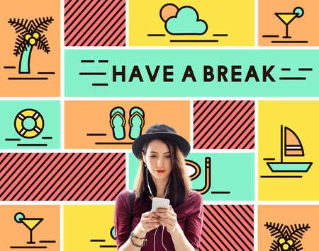 recess: Break Cessation Leisure Pause Recess Relaxation Concept
