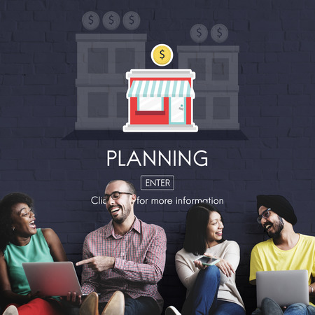 social networking: Plan Planning Business Opportunity Work Concept Stock Photo