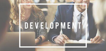 associates: Excellence Development Growth Work Hard Concept Stock Photo
