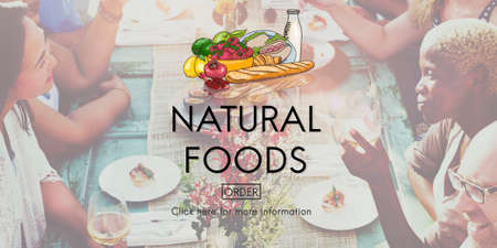 foodie: Organic Healthy Natural Food Foodie Fresh Concept Stock Photo