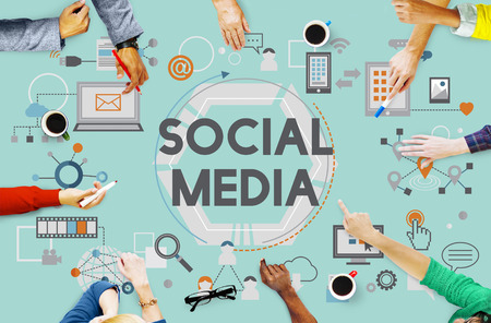 social networking: Social Media Social Networking Technology Innovation Concept Stock Photo