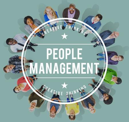 manpower: People Management Manpower Occupation Employee Concept