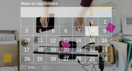 カレンダー日付予定グラフィック コンセプト