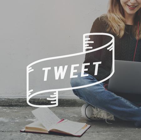 tweet: Tweet Message Online Social Network Concept