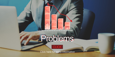 deflation: Problems Risk Deflation Depression Bankruptcy Concept