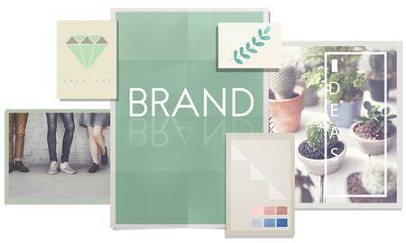 trademark: Brand Branding Label Marketing Profile Trademark Concept