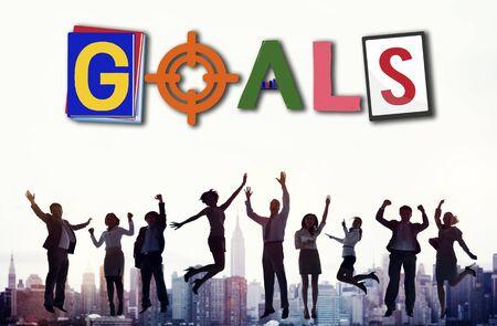 man business oriented: Brand Branding Project Goals Word Concept