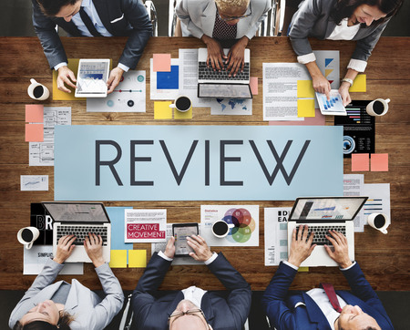 Business meeting with review concept Stock Photo
