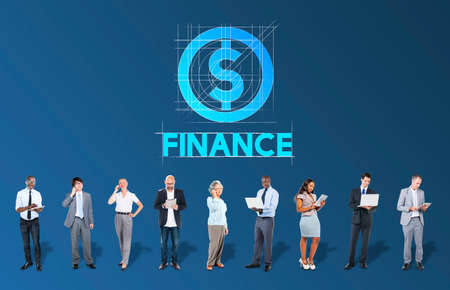 Finance Business Money People Graphic Concept Stock Photo