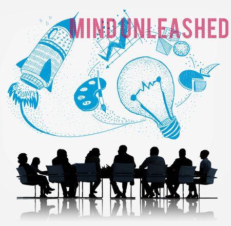 unleashed: Mind Unleashed Ideas Creativity Imagination Concept Stock Photo