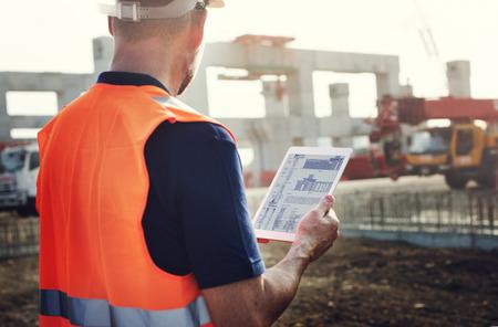 Pracownik budowlany Planowanie Wykonawca Developer Praca Zdjęcie Seryjne