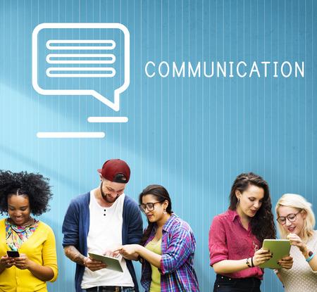 socialise: Chat Communication Online Blog Share Concept
