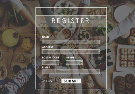 wine register: Register Name Personal Information WEbsite Concept