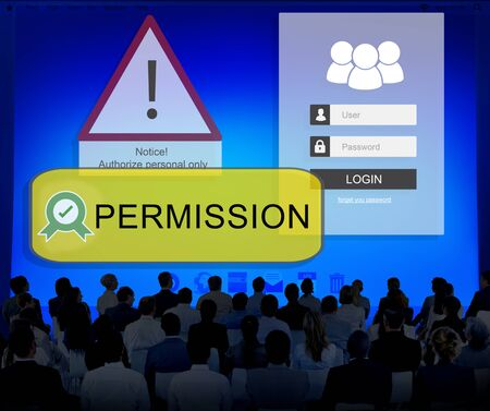 permission granted: Access Allowed Entrust Password Secured Concept