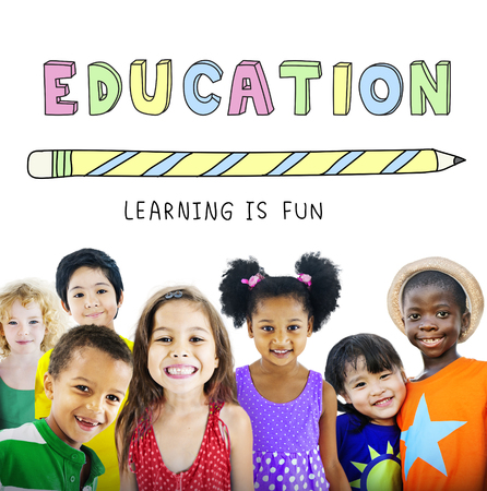 playschool: Education Learning Is Fun Children Graphic Concept