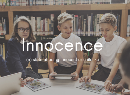 Innocence Naive Innocent Kids Childish Concept Stock Photo