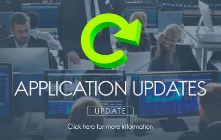 updates: Application Updates Software Download Concept Stock Photo