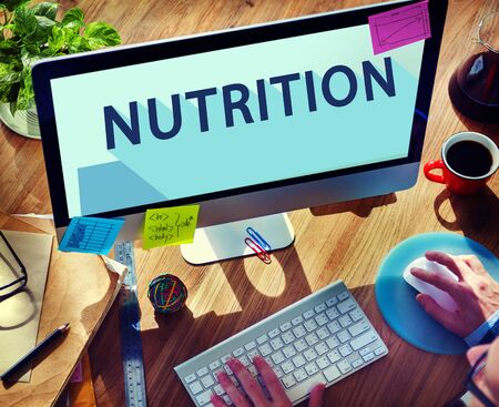 nutritional: Nutrition Nutrient Nutritional  Health Wellness Concept Stock Photo