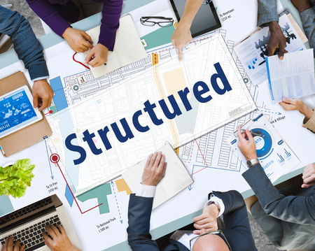 Business meeting with structured concept Stok Fotoğraf
