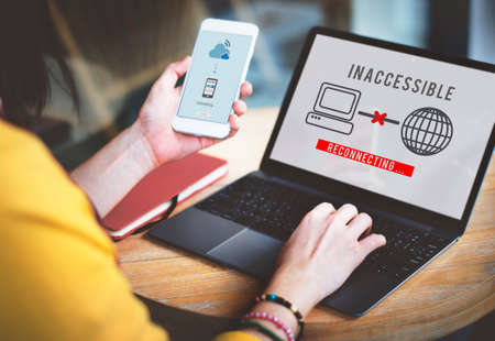 inaccessible: Inaccessible Denied Firewall Rejection Security Concept