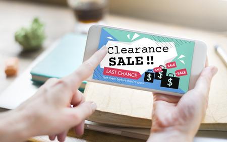 Clearance Sale Promotion Offer Discount Concept Stock fotó