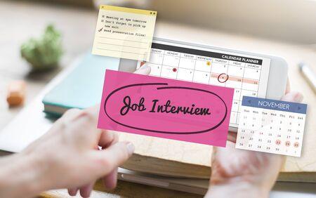telephone interview: Job Interview Recruitment Human Resources Schedule Concept