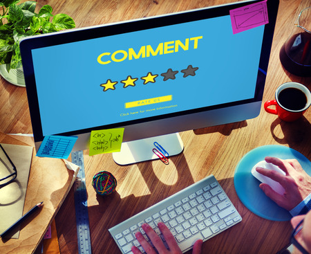 shopping questions: Customre Feedback Comment Vote Review Results Concept