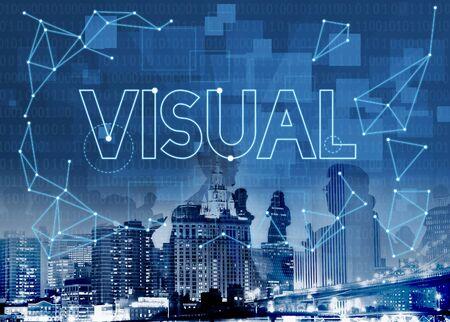 Visual Innovation Creative Thinking Visibility Concept Stock Photo