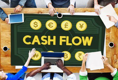 Cash Flow Money Value Earnings Concept