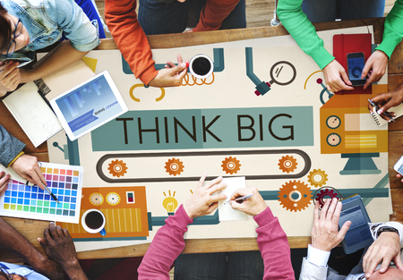 think big: Think Big Analysis Attitude Planning Success Concept