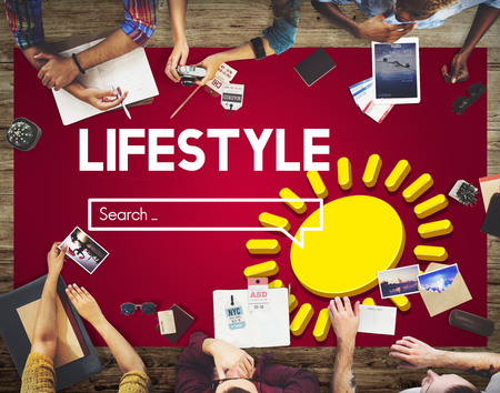 Lifestyle search concept Stock Photo