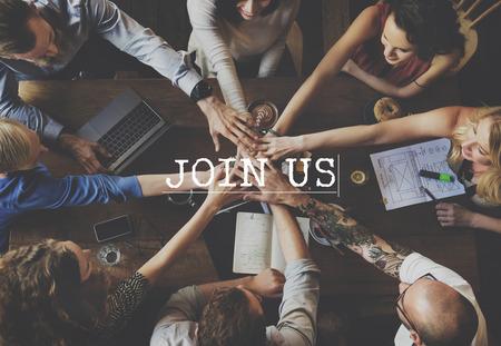Doe mee Deelnemen lidmaatschap Deelnemen Concept Stockfoto