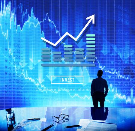 Graph Chart Invest Report Icon Concept Stock Photo