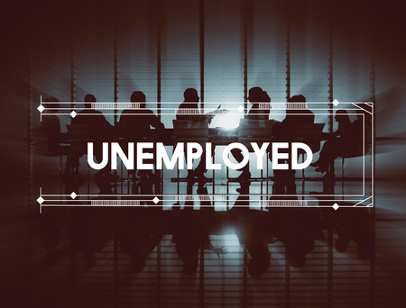 lay off: Unemployed Business People Graphic Concept Stock Photo
